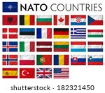 nato member countries isolated... | Shutterstock . vector #182321450
