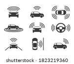 driverless car icons.... | Shutterstock .eps vector #1823219360