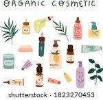 set og organic cosmetics...   Shutterstock .eps vector #1823270453