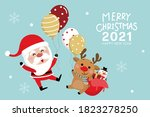 merry christmas and happy new... | Shutterstock .eps vector #1823278250