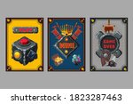 card deck. collection game art. ...