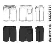 blank men's swimwear set in...