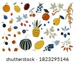 autumn harvest of fruits ... | Shutterstock .eps vector #1823295146