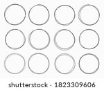 isolated simple doodles round...   Shutterstock .eps vector #1823309606