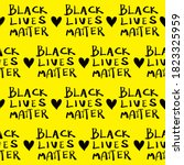 seamless pattern   black lives... | Shutterstock .eps vector #1823325959
