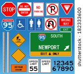 road signs illustration. eps... | Shutterstock . vector #182333600