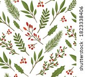 seamless christmas pattern with ... | Shutterstock .eps vector #1823338406