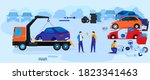 car dump junkyard vector... | Shutterstock .eps vector #1823341463