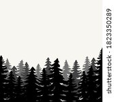 landscape with fir trees.... | Shutterstock .eps vector #1823350289