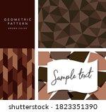 brown card design set like...   Shutterstock .eps vector #1823351390