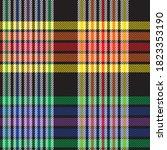 rainbow glen plaid textured...   Shutterstock .eps vector #1823353190