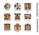small business icons set filled ... | Shutterstock .eps vector #1823354456