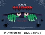 happy halloween. creepy zombie... | Shutterstock .eps vector #1823355416