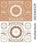 royal monogram frame. hand... | Shutterstock .eps vector #1823363129
