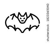 halloween bat icon. horror... | Shutterstock .eps vector #1823365040