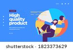 landing page template of... | Shutterstock .eps vector #1823373629