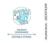company governance concept icon.... | Shutterstock .eps vector #1823376209