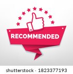 recommended with thumb up.... | Shutterstock .eps vector #1823377193