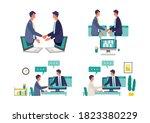 online business talk concept.... | Shutterstock .eps vector #1823380229
