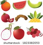 set of fruits and vegetables...   Shutterstock .eps vector #1823382053
