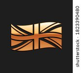 gold flag of great britain icon ... | Shutterstock .eps vector #1823390480