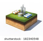 3d Illustration Of Oil Refiner...