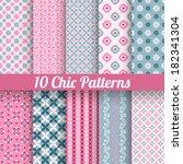 10 chic different vector... | Shutterstock .eps vector #182341304