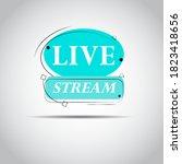 live stream. icon vector symbol ...
