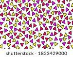 triangular memphis style pop...   Shutterstock .eps vector #1823429000