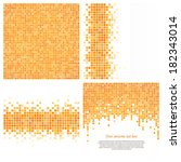 set of 4 pixel templates for... | Shutterstock .eps vector #182343014