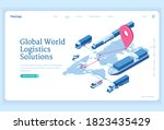 global logistics solutions... | Shutterstock .eps vector #1823435429