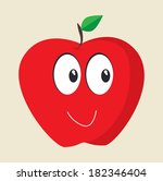 fruits apple cartoon design... | Shutterstock .eps vector #182346404