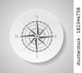 wind rose compass vector symbol ... | Shutterstock .eps vector #182346758