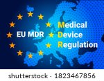 mdr   medical device regulation.... | Shutterstock .eps vector #1823467856