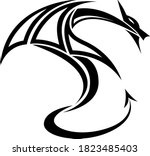 abstract black and white... | Shutterstock .eps vector #1823485403