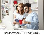 business colleagues sitting at... | Shutterstock . vector #182349308