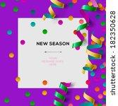 new season invitation template... | Shutterstock .eps vector #182350628