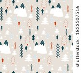 winter pattern with christmas... | Shutterstock .eps vector #1823507516