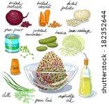 antipasto,barbabietola,bollito,cavolo,carote,tritato,cucina,dieta,aneto,medicazione,cipolla,sottaceti,patate,acida,verdure