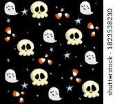 halloween seamless pattern... | Shutterstock .eps vector #1823538230