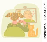 hearing disability concept.... | Shutterstock .eps vector #1823538719