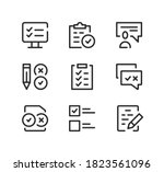 examination line icons set.... | Shutterstock .eps vector #1823561096
