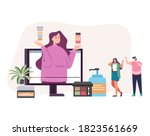 online e commerce cosmetic... | Shutterstock .eps vector #1823561669