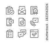 check marks line icons.... | Shutterstock .eps vector #1823562026