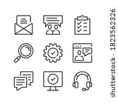 technical support line icons.... | Shutterstock .eps vector #1823562326