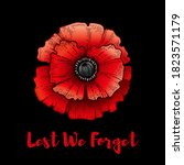 Remembrance Day. Poppy With...