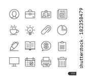 office   marketing icons set  ... | Shutterstock .eps vector #182358479