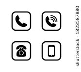 phone set icon symbol vector on ... | Shutterstock .eps vector #1823587880
