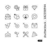 dating   celebration icons set  ... | Shutterstock .eps vector #182358944