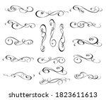 set of decorative elements for... | Shutterstock .eps vector #1823611613